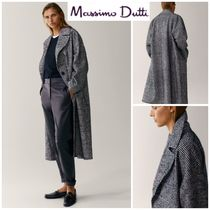 Massimo Dutti Other Plaid Patterns Casual Style Wool Office Style