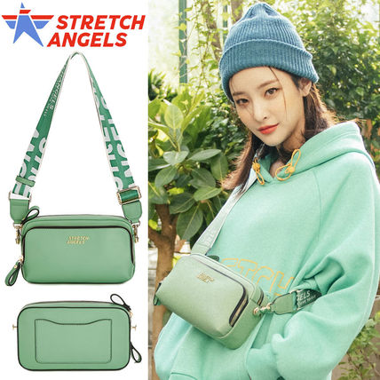 STRETCH ANGELS Shoulder Bags Casual Style Faux Fur 2WAY Plain Crossbody Logo Icy Color