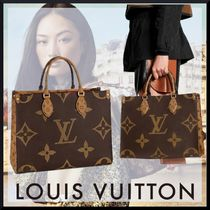 Louis Vuitton Monogram Casual Style Unisex A4 2WAY Totes