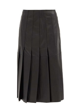 《JOSEPH》Semry pleated leather skirt
