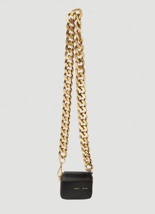 Crossbody Formal Style  Logo Casual Style Chain Plain