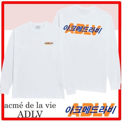 acme de la vie Long Sleeve Unisex Street Style Long Sleeves Cotton Short Sleeves
