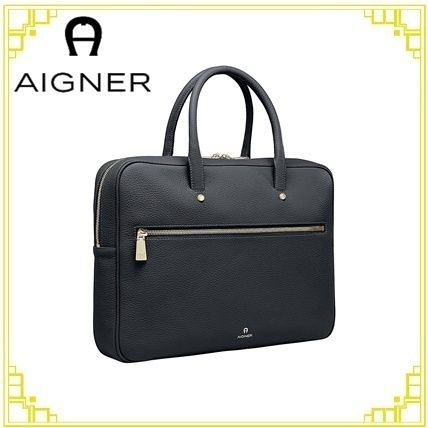 Casual Style A4 Leather Office Style Elegant Style