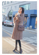 Casual Style Tweed Medium Elegant Style Chester Coats