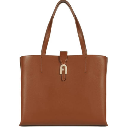 Casual Style A4 Plain Leather Office Style Elegant Style