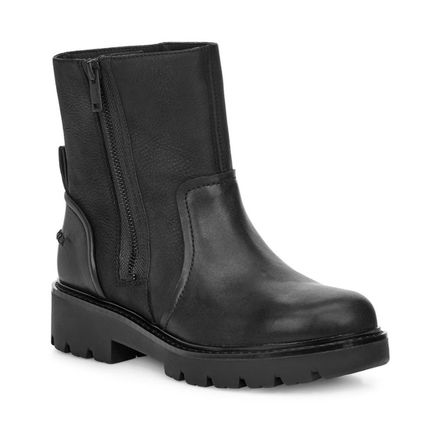 Platform Rubber Sole Casual Style Street Style Plain Leather
