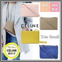 CELINE Trio Bag 2WAY Leather Party Style Office Style Elegant Style