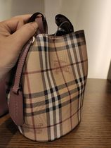 Burberry 2WAY Leather Purses Crossbody Bucket Bags