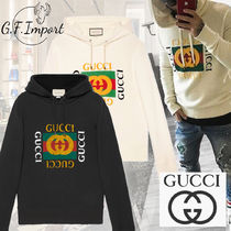 GUCCI Pullovers Street Style Collaboration Long Sleeves Cotton