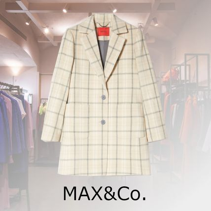 Short Other Plaid Patterns Casual Style Wool Elegant Style