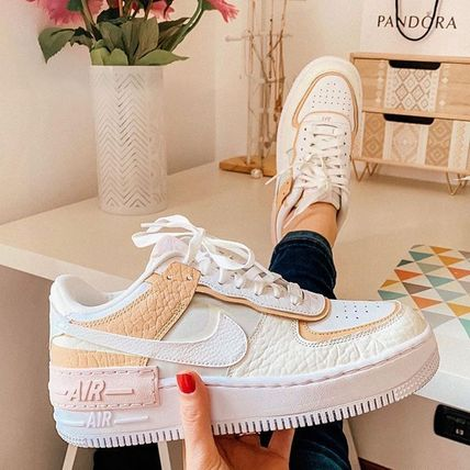 Nike AIR FORCE 1 Casual Style Unisex Street Style Logo Low-Top Sneakers