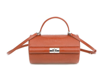 Office Style Formal Style  Logo Shoulder Bags