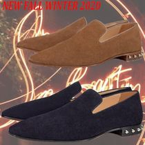 Christian Louboutin Loafers Studded Street Style Leather Logo Loafers & Slip-ons