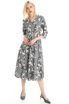 Flower Patterns Casual Style Cotton Long Office Style