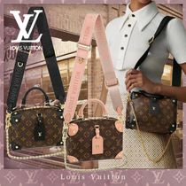Louis Vuitton PETITE MALLE Monogram Casual Style Canvas Blended Fabrics 2WAY Leather
