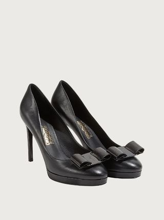 Salvatore Ferragamo Platform Casual Style Plain Leather Pin Heels Party Style