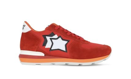 Star Unisex Suede Leather Logo Sneakers
