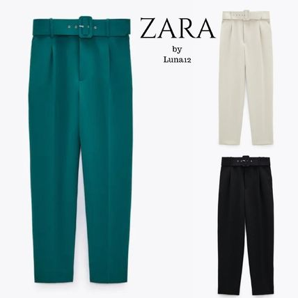 ZARA Casual Style Plain Medium Long Office Style Short Length