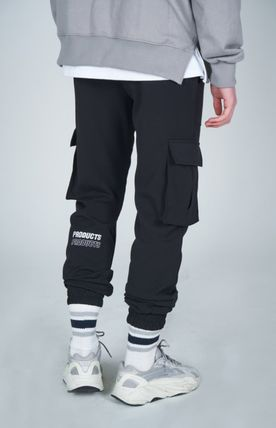 AT THE MOMENT Cargo Unisex Street Style Plain Cargo Pants