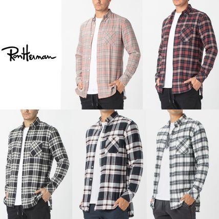 Ron Herman Shirts Button-down Other Plaid Patterns Street Style Long Sleeves