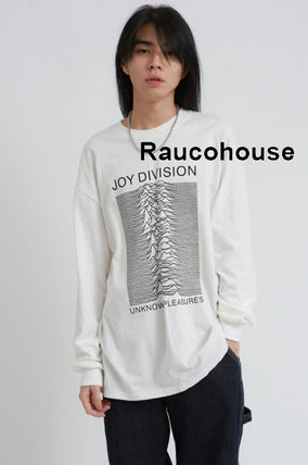 Raucohouse Long Sleeve Unisex Street Style Long Sleeves Cotton Oversized