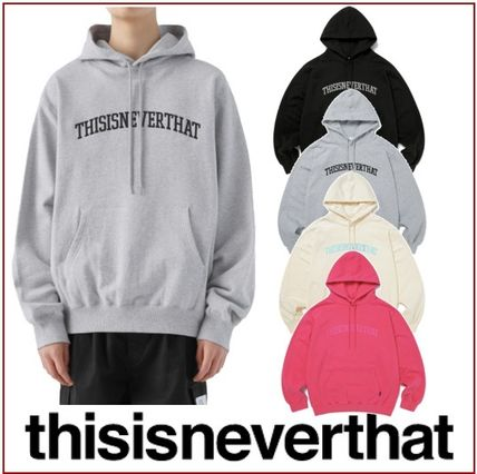 thisisneverthat Hoodies Unisex Street Style Long Sleeves Cotton Logo Hoodies