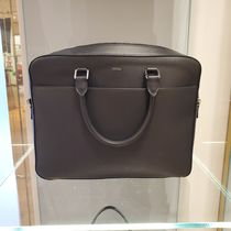 FURLA A4 2WAY Plain Leather Logo Bags