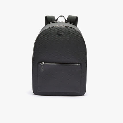 Unisex Plain Other Animal Patterns Leather Logo Backpacks