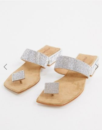 Open Toe Leather Party Style Elegant Style Sandals