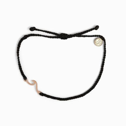 Ron Herman Unisex Blended Fabrics Street Style Silver Brass Anklets
