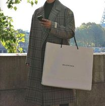 Other Plaid Patterns Wool Street Style Long Chester Coats
