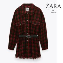 ZARA Other Plaid Patterns Casual Style Long Sleeves Cotton Medium