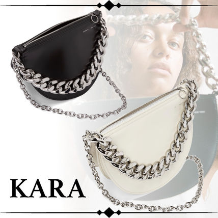 Casual Style Street Style 2WAY Chain Plain Leather
