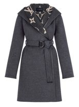 Louis Vuitton Hooded Wrap Coat With Belt