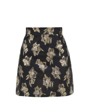 Pencil Skirts Short Flower Patterns Casual Style Skirts