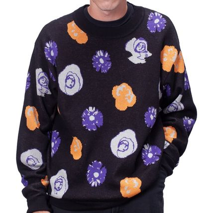 Long Sleeves Skater Style Sweaters