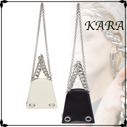 Casual Style Street Style Chain Plain Leather Party Style