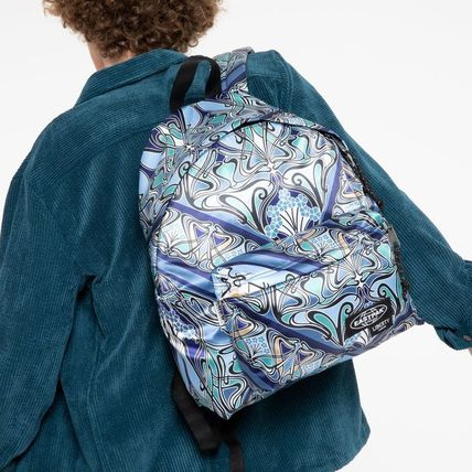Casual Style Unisex Collaboration A4 Logo Backpacks