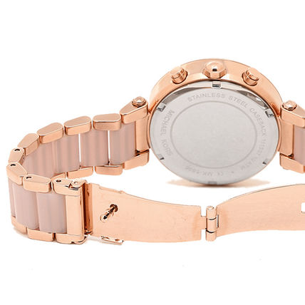Michael Kors Casual Style Unisex Leather Party Style Quartz Watches