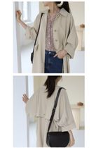 INDIBRAND Trench Casual Style Plain Long Party Style Office Style Oversized 7