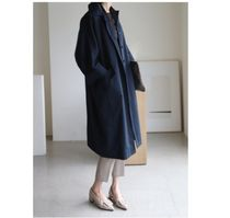 INDIBRAND Trench Casual Style Plain Long Party Style Office Style Oversized 9