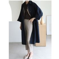 INDIBRAND Trench Casual Style Plain Long Party Style Office Style Oversized 11