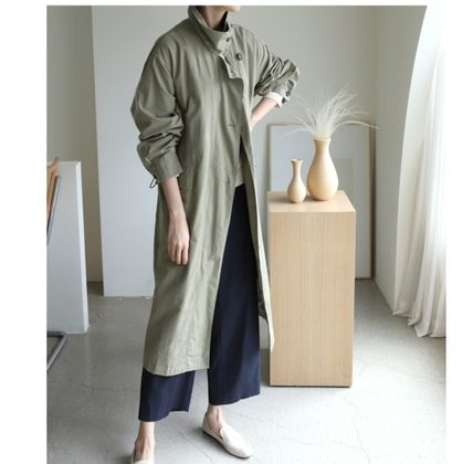 Casual Style Plain Long Party Style Office Style Oversized