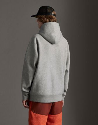 MONCLER Hoodies Street Style Long Sleeves Plain Cotton With Jewels Hoodies 4