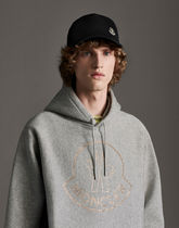 MONCLER Hoodies Street Style Long Sleeves Plain Cotton With Jewels Hoodies 5