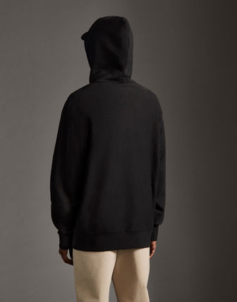 MONCLER Hoodies Street Style Long Sleeves Plain Cotton With Jewels Hoodies 9