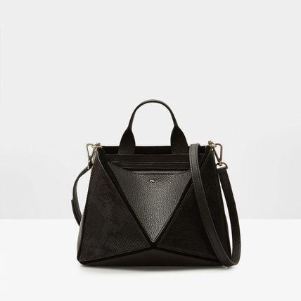 Casual Style Leather TANGRAM MINI SHOULDER BAG