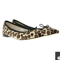 repetto Leopard Patterns Leather Ballet Shoes