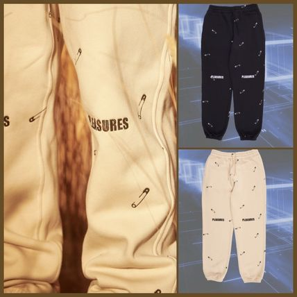 Unisex Street Style Logo Icy Color Pants