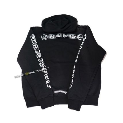 CHROME HEARTS SCROLL Unisex Long Sleeves Cotton Hoodies